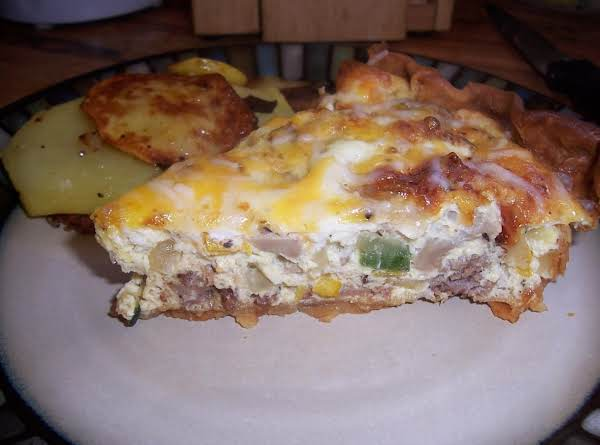 This Quiche Is Great On It's Own But Serving Fried Potatoes, Seasoned Hash Browns Or Fruit Makes For A Nice Meal.