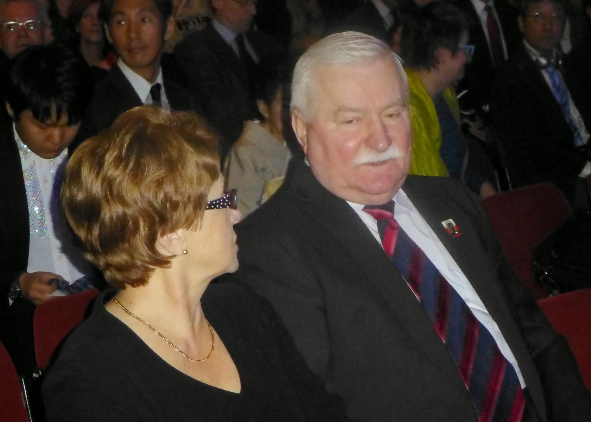 Photo: Prezydent Lech Wałęsa z małżonką, Danutą