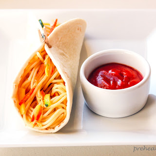 Sloppy Spaghetti Tacos