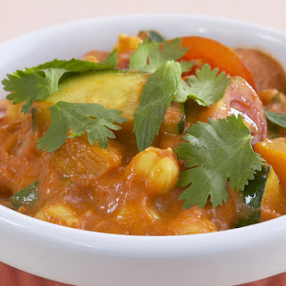 Chickpea, Zucchini and Winter Squash Curry