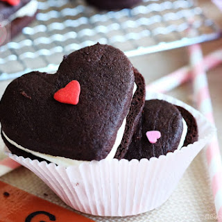 Be My Valentine Dark Chocolate Cookies