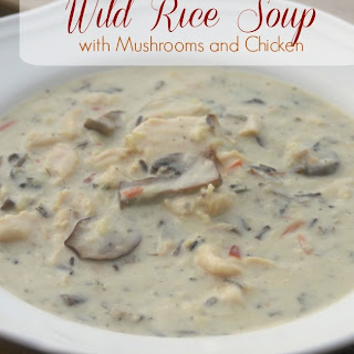 Wild Rice Soup with Mushrooms and Chicken