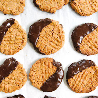 Dark Chocolate Dipped Peanut Butter Cookies