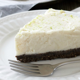 Coconut and Lime Ice Cream Pie with Chocolate Almond Crust