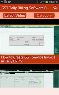 GST Tally Billing Software & ERP Guide Videos App - náhled