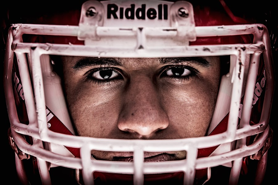 Friday Night Lights by Scott Bruewer - People Portraits of Men ( senior picture, football, panthers, forever photography, magnolia, senior,  )