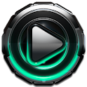 Poweramp skin Mint Glow icon