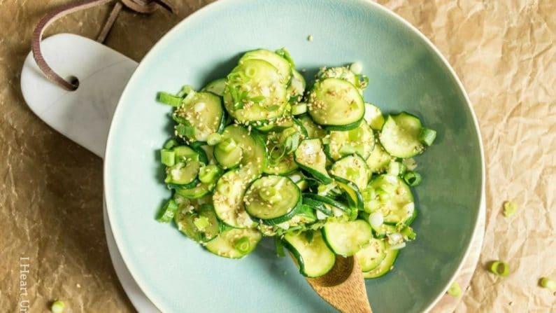 Korean Chilled Zucchini Sides Recipe | Yummly