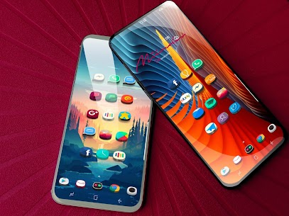 Popsicle 3D android 10 icon pack HD Wallpaper pack 20no ads optimze android 10 APK + MOD (Unlocked) 1