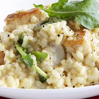 Chicken Risotto with Arugula