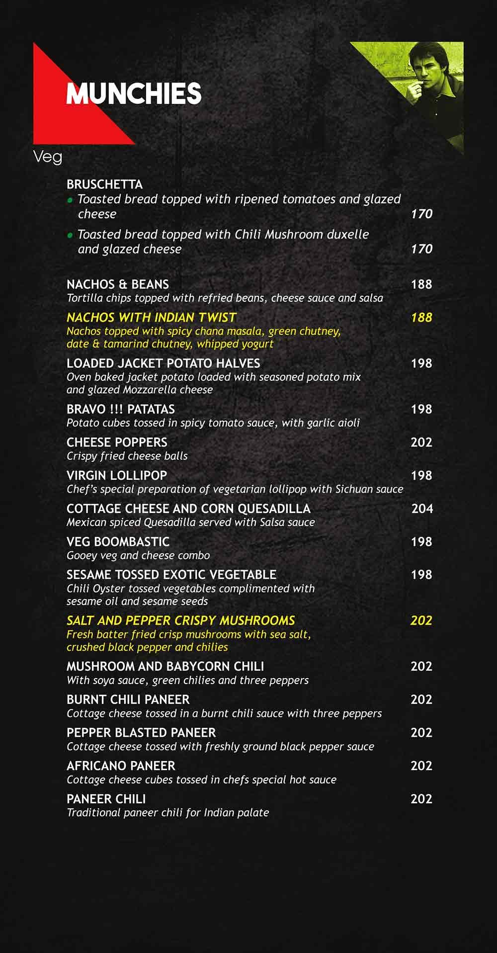 Pop Tate's menu 2