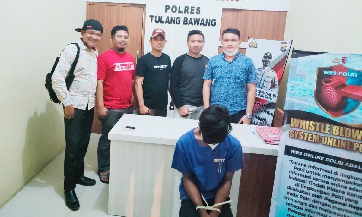 Cabuli Pelajar di Gubuk Bekas Warung, Pemuda 20 Tahun Ditangkap Polres Tulang Bawang