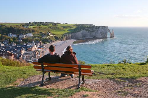 Etretat by Merina Tjen - Lim - Travel Locations Landmarks ( cliff; etretat; normandy; sea, france, brittany coast )