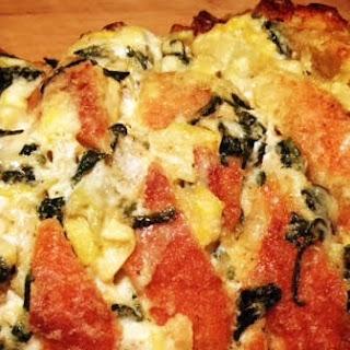 Artichoke and Spinach Stuffed Bread.