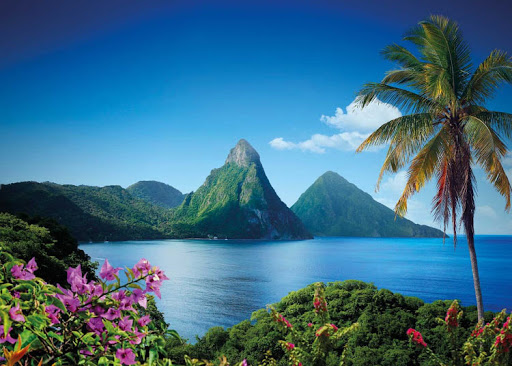 The postcard-ready Two Pitons on St. Lucia, one of several Caribbean islands unaffected by September's hurricanes.