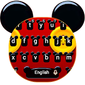 Cute Micky Bowknot Keyboard Theme