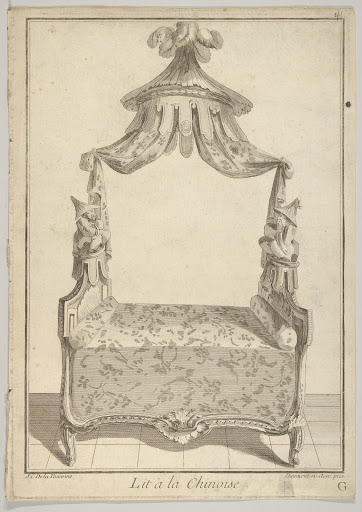 Lit à la Chinoise (Chinese Bed), from Nouvelle iconologie historique (part III, series marked 'G')