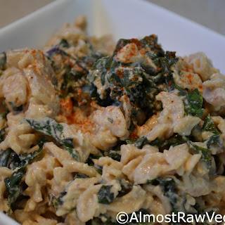 Spicy Creamy Kale Pasta