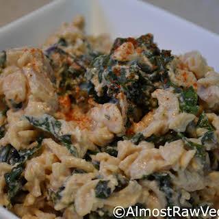 Spicy Creamy Kale Pasta.