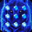 Blue Cool Wolf King AppLock APK