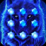 Blue Cool Wolf King AppLock Icon
