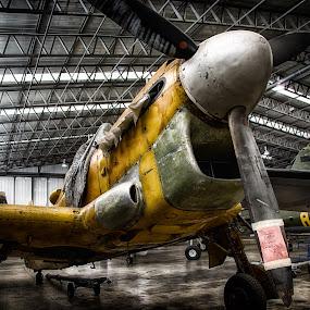 Deserving of Love by Leigh Brooksbank - Transportation Airplanes ( machinery, imperial war museam, airplane, duxford, warplane )