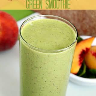 Peaches & Cream Green Smoothie.