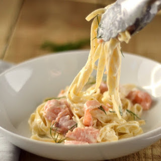 Creamy Smoked Salmon Pasta.