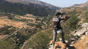 Unidad canina de rescate y salvamento.