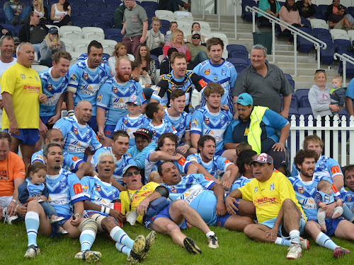 The Narrabri Blues Reserve grade squad after their win in the preliminary final against North Tamworth Bears.