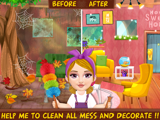 Messy House Cleanup Girls Home Cleaning Activities android2mod screenshots 4
