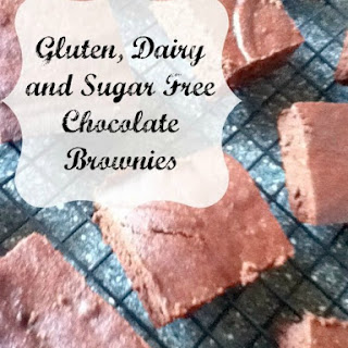 Gluten, Dairy and Sugar Free Chocolate Brownies.