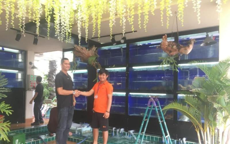 Hồ hải sản giúp nâng tầm không gian nhà hàng