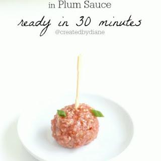 Chicken Meatballs in Plum Sauce