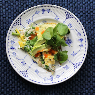 Cast Iron Watercress & Fresh Mozzarella Omelet for Two