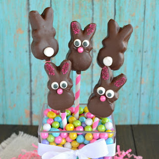 Chocolate Covered Marshmallow Bunnies