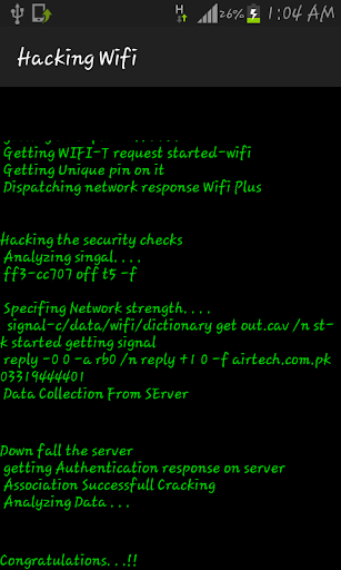 Wifi password Hacker Prank for PC