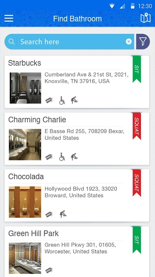 SitOrSquat: Restroom Finder- screenshot