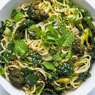 Cold Sesame Noodles with Broccoli and Kale recipe | Epicurious.com.