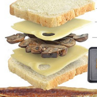 Grilled Mushroom and Swiss Cheese