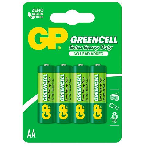bateria gp greencell aa 4und