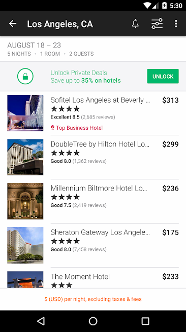 #3. KAYAK Flights, Hotels & Cars (Android)