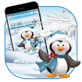Cute Snow Penguin Theme Android APK Download Free By Fancy Theme Palace