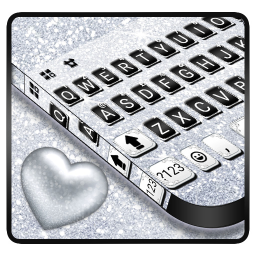 Silvery Glitter Keyboard Theme