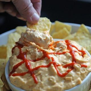 Cheesy Crock Pot Sriracha Chicken Dip.