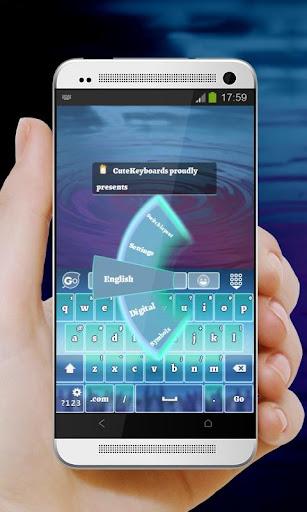 青色で点灯 GO Keyboard