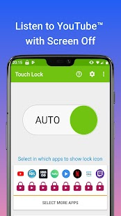Touch Lock for YouTube - Video Screen Touch Locker Screenshot
