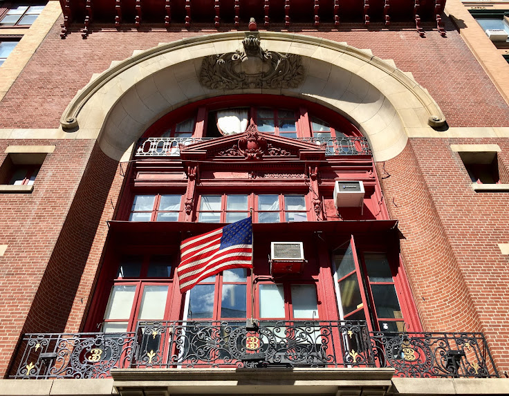 The balcony above Engine Company No. 33.