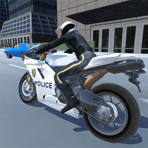 Police City Motorbike Rider