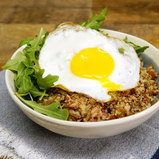 Breakfast Quinoa Bowl With Fried Egg.